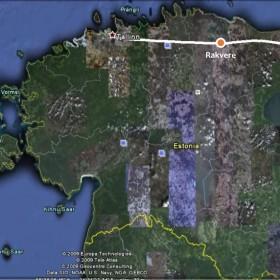 Lend Rakverest Narva, väikese põikega Jõhvi