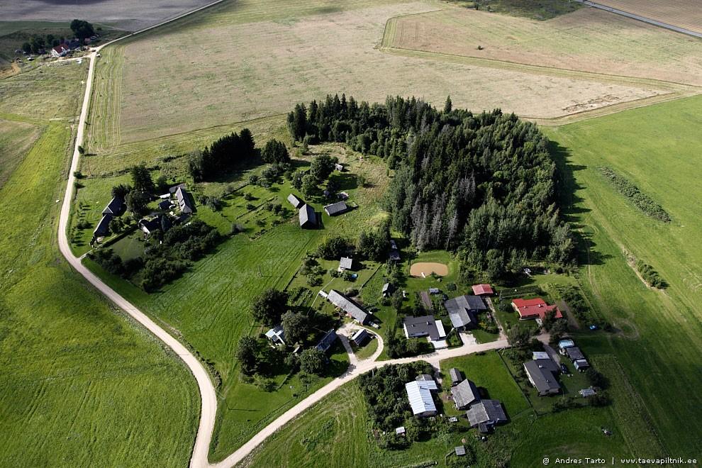Väike küla tiigiga